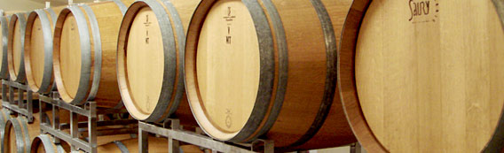 Chinook Wines barrels