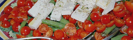 Chinook Wines feta and cherry tomato salad